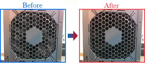 通風孔にほこりがたまると、熱がこもってしまい故障の原因となってしまいます。こまめに掃除機などで掃除しましょう。